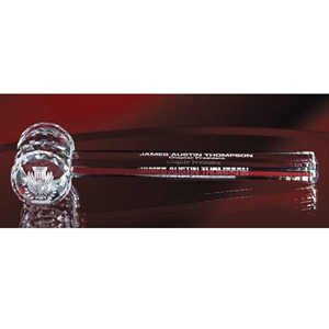 "10.25"" Clear Crystal Gavel"
