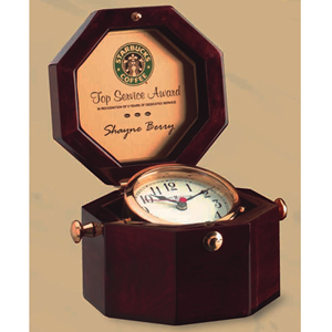 "4"" Captains Clock - Cherry"