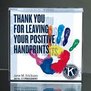 "4""x4"" Acrylic Block with Full Color Direct Digital Print"