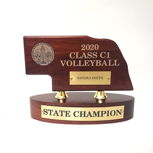 Champion NSAA Mini Nebraska High School State Trophy