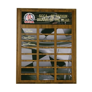 Checkered Flag Perpetual Plaque