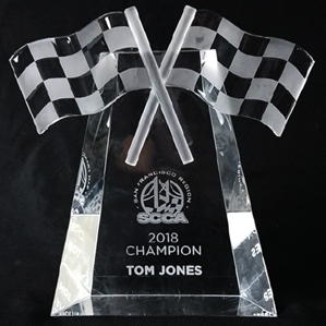Crystal Racing Flag - SCCA where to buy crystal, SCCA Gifts, SCCA, Crystal Paperweight,low quantity