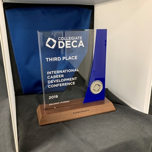 DECA ICDC Duplicate Trophy - Top Three