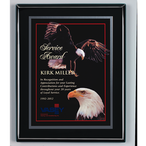 Ebony Finish Plaque with Metal Plate (4 sizes)