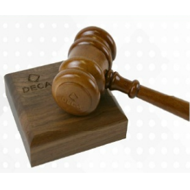 Gavel with Engraving Band