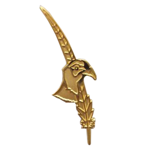 Tail Feather with Pheasant Head Lapel Pin