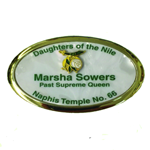 Name Badge - Mother of Pearl