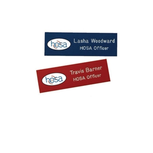 "Name badges - 1"" x 3"""