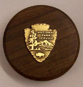 National Park Walnut Paperweight National park paperweight, walnut, arrowhead, national park gift