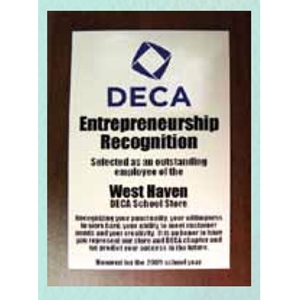 Plaque - Entrepreneurship