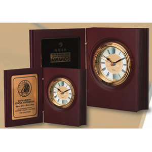 "Rose-Wood ""Book"" Clock (2 sizes)"