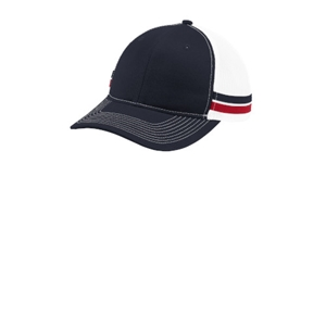 Two-Stripe Snapback Trucker Cap