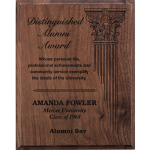 Walnut Plaque with Laser Engraving (4 sizes)